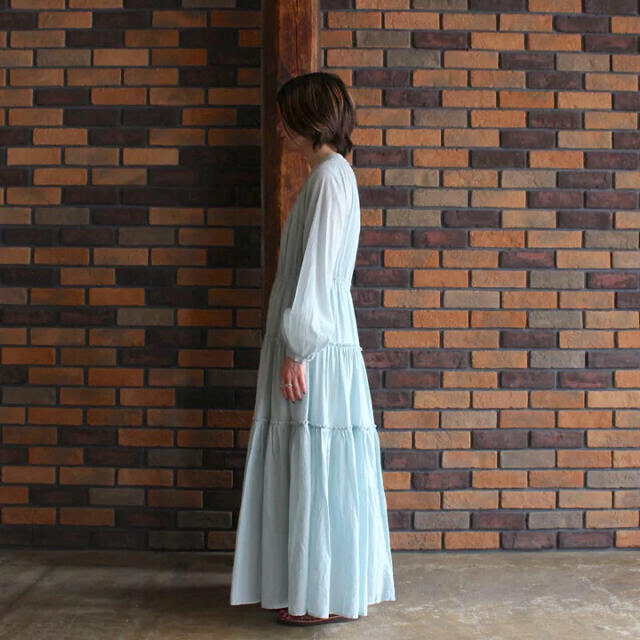 IENA(イエナ)の新品 ne Quittez pas ヌキテパ コットンワンピースドレス IENA レディースのワンピース(ロングワンピース/マキシワンピース)の商品写真
