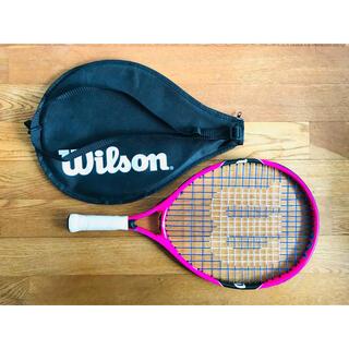 ウィルソン(wilson)の【新品】ウィルソン『バーン BURN ピンク19』ジュニアテニスラケット/錦織圭(ラケット)