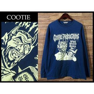 クーティー(COOTIE)のT8000様専用 XL COOTIE クーティー 18ss 長袖 Tシャツ 紺(Tシャツ/カットソー(七分/長袖))