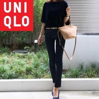 ユニクロ(UNIQLO)の【美品】UNIQLO ベロアプルオーバー ベロア生地半袖Tシャツ(Tシャツ(半袖/袖なし))
