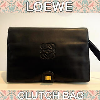 LOEWE - ■美品■ロエベ/LOEWE/ブラック/クラッチバッグ/ハンドバッグ