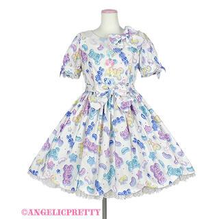 アンジェリックプリティー(Angelic Pretty)のJelly Candy Toys ワンピース 白(ひざ丈ワンピース)