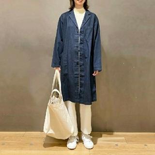 MUJI (無印良品) - 【新品】無印良品インド綿デニムコート男女兼用/XXS~XS/インディゴブルー