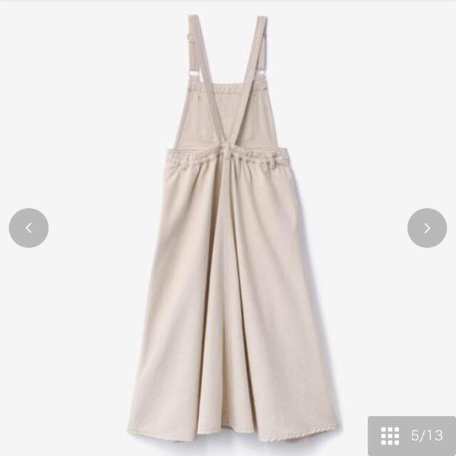 しまむら(シマムラ)のしまむら×てらさんコラボ   デニムジャンパースカート  ホワイト♡ レディースのワンピース(ロングワンピース/マキシワンピース)の商品写真