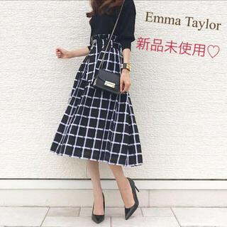 Mila Owen - 4/16まで値下げ【新品】Emma Taylor♡チェック♡ロングスカート