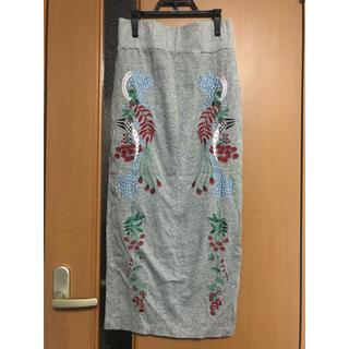 マメ(mame)のmame kurogouchi マメクロゴウチ ジャージー 刺繍 スカート(ロングスカート)