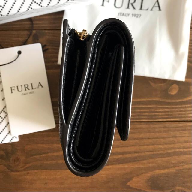 Furla(フルラ)の【美品】フルラ 三つ折財布 BABYLON ウォレット ブラック  レディースのファッション小物(財布)の商品写真