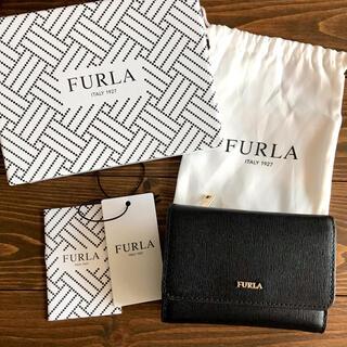 Furla - 【美品】フルラ 三つ折財布 BABYLON ウォレット ブラック
