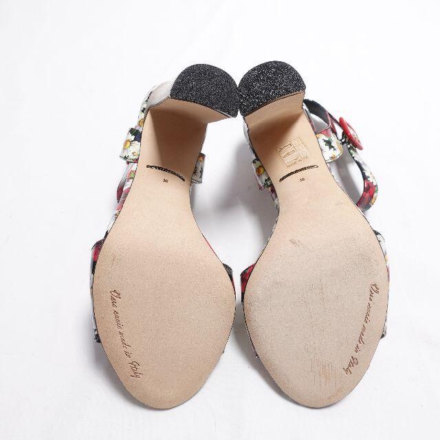 DOLCE&GABBANA(ドルチェアンドガッバーナ)の■DOLCE&GABBANA 花柄サンダル レディース レディースの靴/シューズ(ハイヒール/パンプス)の商品写真