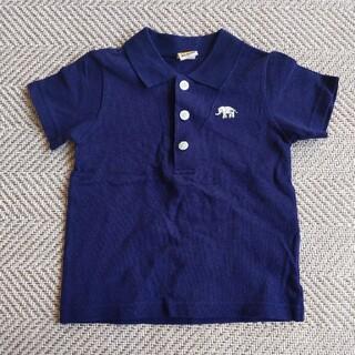 ムージョンジョン(mou jon jon)のポロシャツ ネイビー 100 moujonjon(Tシャツ/カットソー)