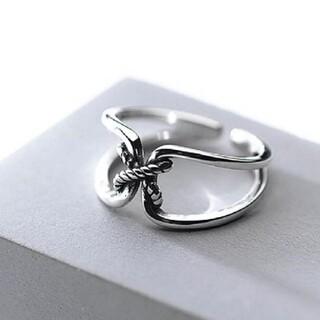 フリークスストア(FREAK'S STORE)のツイスト ロープ クロス デザインリング 指輪 シルバーリング(リング(指輪))