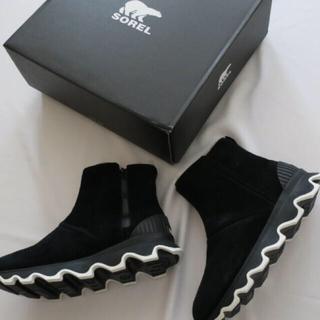 ソレル(SOREL)のソレル キネティックショート 黒 24cm(ブーツ)