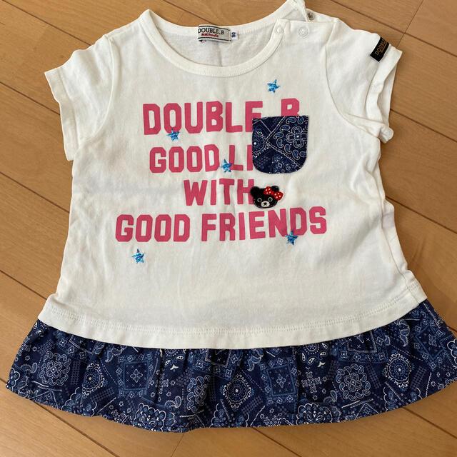 DOUBLE.B(ダブルビー)のダブルB 90サイズ 女の子夏服 ペイズリー柄 キッズ/ベビー/マタニティのキッズ服女の子用(90cm~)(Tシャツ/カットソー)の商品写真
