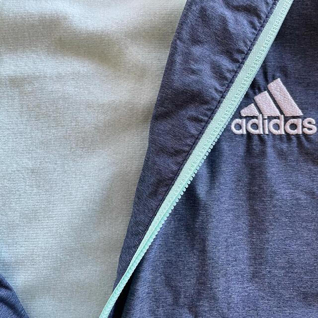 adidas(アディダス)の美品♡150★アディダス★ウィンドブレーカー☆パーカー☆トリコット裏起毛 キッズ/ベビー/マタニティのキッズ服女の子用(90cm~)(ジャケット/上着)の商品写真