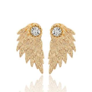 新品 未使用 天使の翼 金 色 ピアス レディース 両耳用