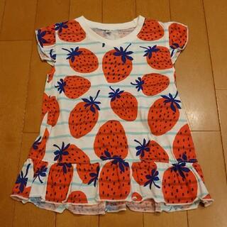 ニシマツヤ(西松屋)の西松屋 いちご Tシャツ (Tシャツ/カットソー)