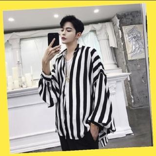 メンズ ストライプ シャツ 韓国ファッション