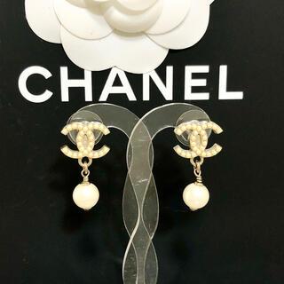 CHANEL - 正規品 シャネル ピアス パール ココマーク ゴールド スイング ロゴ 真珠 2