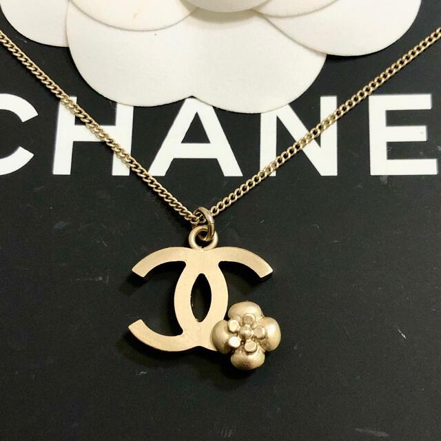CHANEL(シャネル)の正規品 シャネル ネックレス ココマーク カメリア フラワー 花 ゴールド 金 レディースのアクセサリー(ネックレス)の商品写真