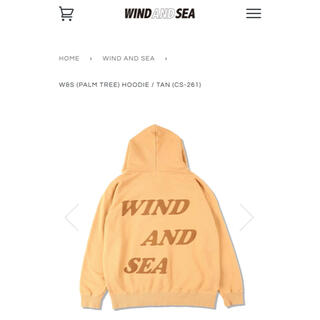 SEA - ★新作★wind and sea HOODIE / TAN パーカー サイズXL