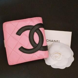 CHANEL - 10万円(新品時の参考価格)廃盤レア✨シャネル カンボンライン折財布