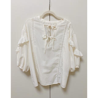 クリスプ(Crisp)の袖フリルリボン付きブラウス(シャツ/ブラウス(長袖/七分))