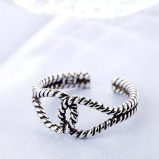 フリークスストア(FREAK'S STORE)のツイスト ロープ ダブル クロス デザインリング 指輪 シルバーリング(リング(指輪))