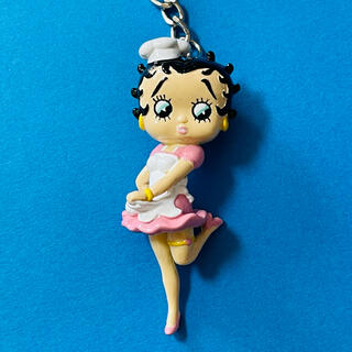 Betty Boop ベティ PVC キーホルダー ウェートレス 新品 Y(キーホルダー)