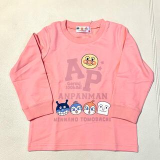 アンパンマン - アンパンマン綿100%薄手トレーナースウェットシャツ100サイズ ピンク 女の子