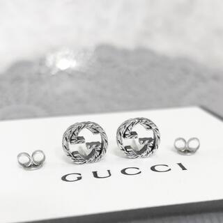 Gucci - 正規品 グッチ ピアス シルバー 丸 GG ロゴ 銀 SV925 燻加工 ミニ3