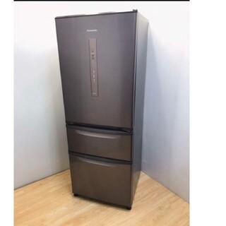 パナソニック(Panasonic)の冷蔵庫 ブラウン エコナビ スリムタイプ 3ドア 使いやすいサイズ(冷蔵庫)