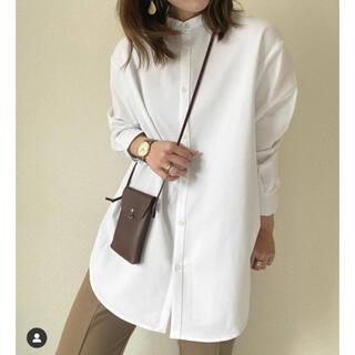 GU - 新品未使用 GU バンドカラーロングシャツ ホワイト