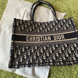 Dior - 超美人気ディオールブックトート ネイビー トートバッグ