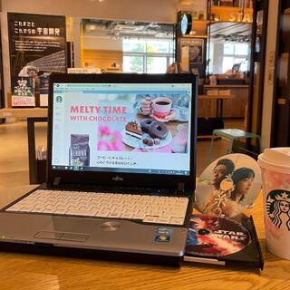 富士通 - スタバでどうですか?  女性向けノートパソコン  DVD鑑賞/Office付