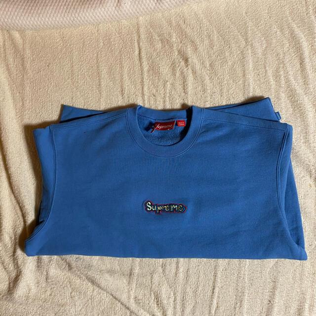 Supreme(シュプリーム)のsupreme gonz logo crewneck Blue M 青 メンズのトップス(スウェット)の商品写真