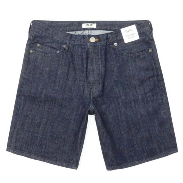 Ron Herman(ロンハーマン)のRon Herman デニムハーフパンツ 5ポケット RHC ネイビー Mサイズ メンズのパンツ(デニム/ジーンズ)の商品写真