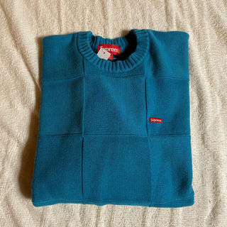 Supreme - Supreme Tonal Checkerboard Sweater 青 S