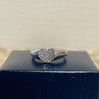 K18WG ハート ダイヤモンド リング ダイヤモンド 0.31ct