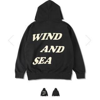 シー(SEA)のwind and sea ウィンダンシー M ブラック(パーカー)