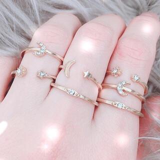 【即購入OK】 月 星 ゴールド リングセット(リング(指輪))