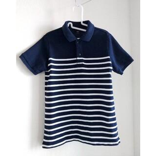 ユニクロ(UNIQLO)の「UNIQLO KIDS」ドライカノコボーダーポロシャツ(半袖):140(Tシャツ/カットソー)