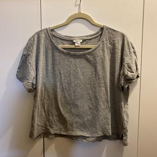 モンキ(Monki)のmonki クロップドトップス Tシャツ グレー(Tシャツ(半袖/袖なし))
