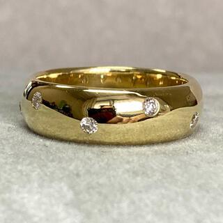 K18 0.16ct しっかりしたつくりのダイヤモンドリング 指輪