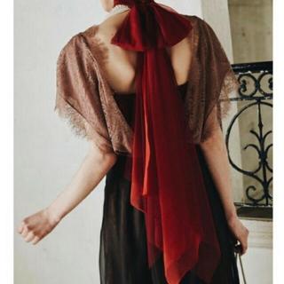 ラベルエチュード(la belle Etude)のレーストップス、リボンタイ(カットソー(半袖/袖なし))