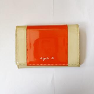 agnes b. - アニエスベー エナメル財布 二つ折り財布 agnes b.