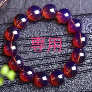 超レア【超美品】【存在感】天然琥珀 紫系ピンク色アンバー約16.3mm