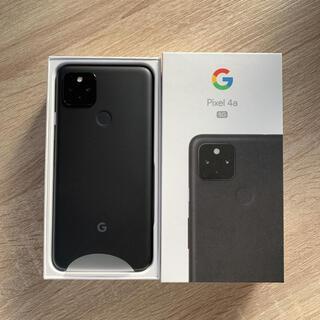 グーグル(Google)のSIMフリー pixel 4a 5g 128GB ブラック(スマートフォン本体)