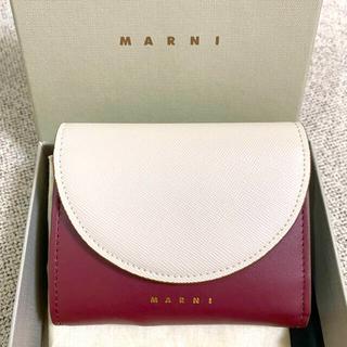 マルニ(Marni)のMarni マルニ カーフスキン 財布 バッグ 三つ折り ミニ財布 コインケース(折り財布)