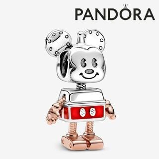 【在庫1点!】PANDORA コラボ チャーム ロボットミッキー ポーチ付き