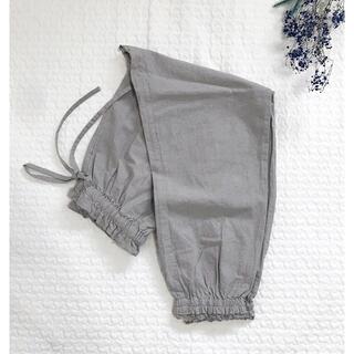 SM2 - 新品◎サマンサモスモス リネン混裾ギャザーレースパンツ グレー ペチパンツ